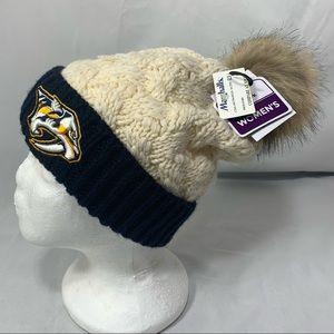 Women's Beanie Nashville predators sweater hat